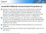 accela bill of materials accela hosted pricing notes 5