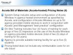 accela bill of materials accela hosted pricing notes 6