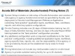accela bill of materials accela hosted pricing notes 7