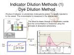 indicator dilution methods 1 dye dilution method