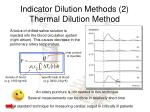 indicator dilution methods 2 thermal dilution method