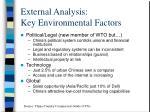 external analysis key environmental factors10