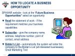 how to locate a business opportunity