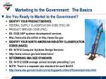 marketing to the government the basics