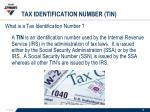 tax identification number tin