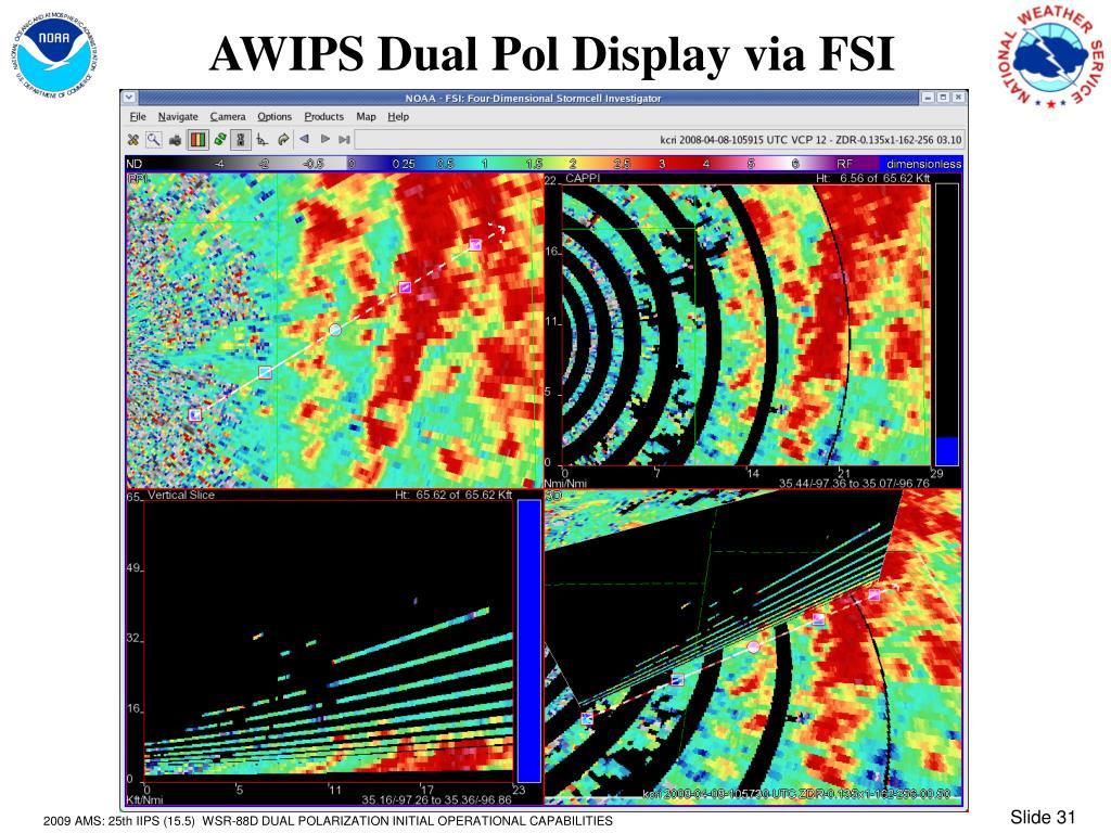 AWIPS Dual Pol Display via FSI