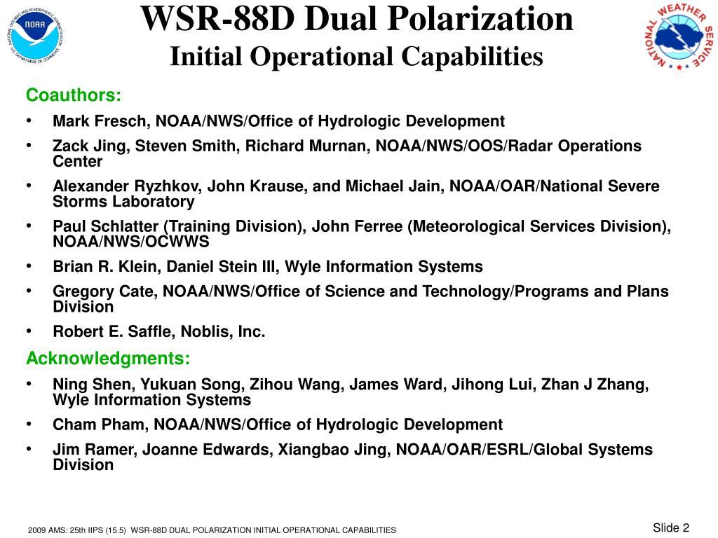 WSR-88D Dual Polarization