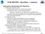 wsr 88d rpg algorithms continued
