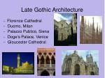 late gothic architecture