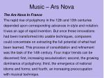 music ars nova