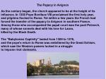 the papacy in avignon