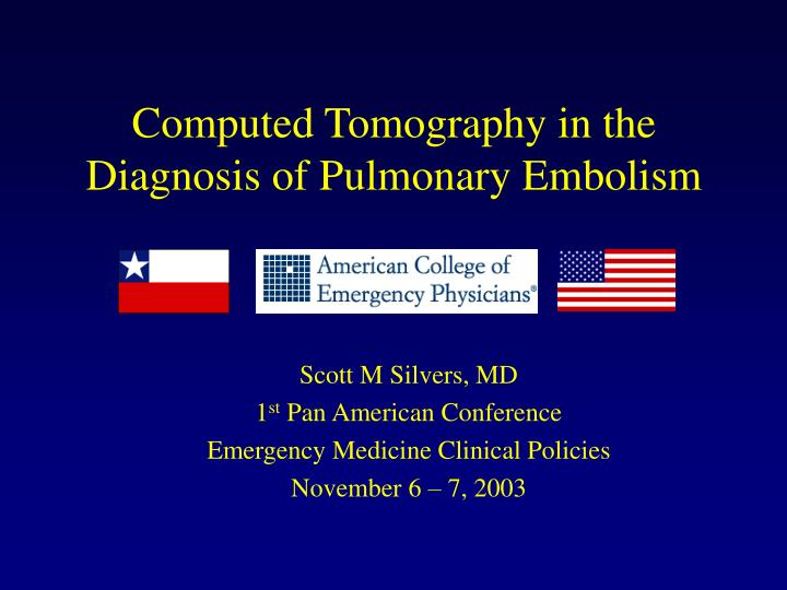computed tomography in the diagnosis of pulmonary embolism n.