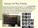 signage and way finding