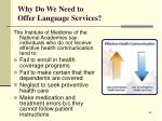 why do we need to offer language services63