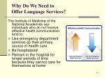 why do we need to offer language services64