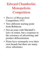 edward chamberlin monopolistic competition
