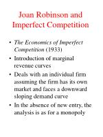 joan robinson and imperfect competition