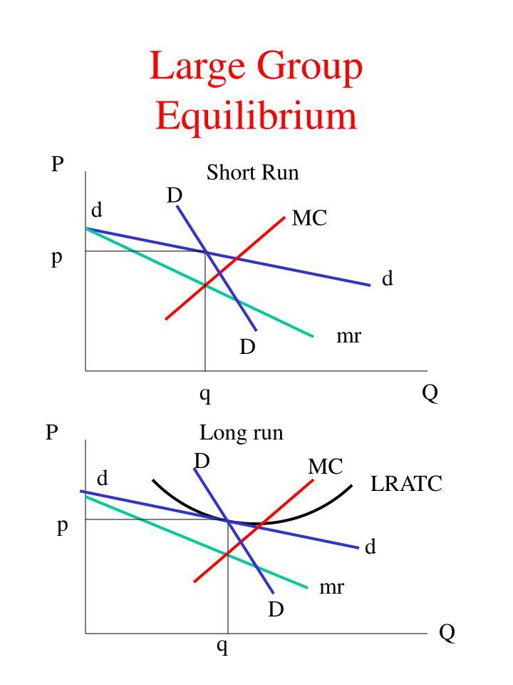 Large Group Equilibrium