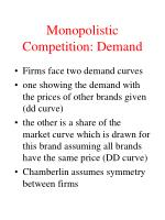 monopolistic competition demand