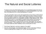 the natural and social lotteries