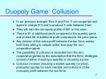 duopoly game collusion