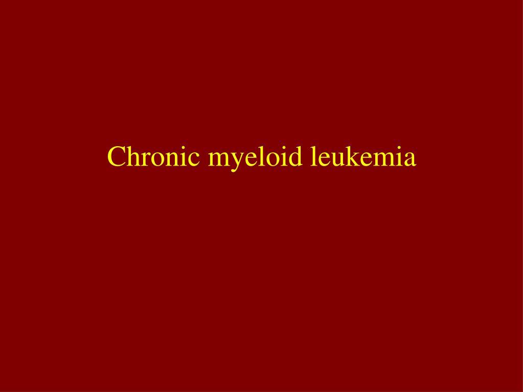 chronic myeloid leukemia l.