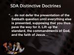 sda distinctive doctrines