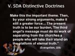 v sda distinctive doctrines22