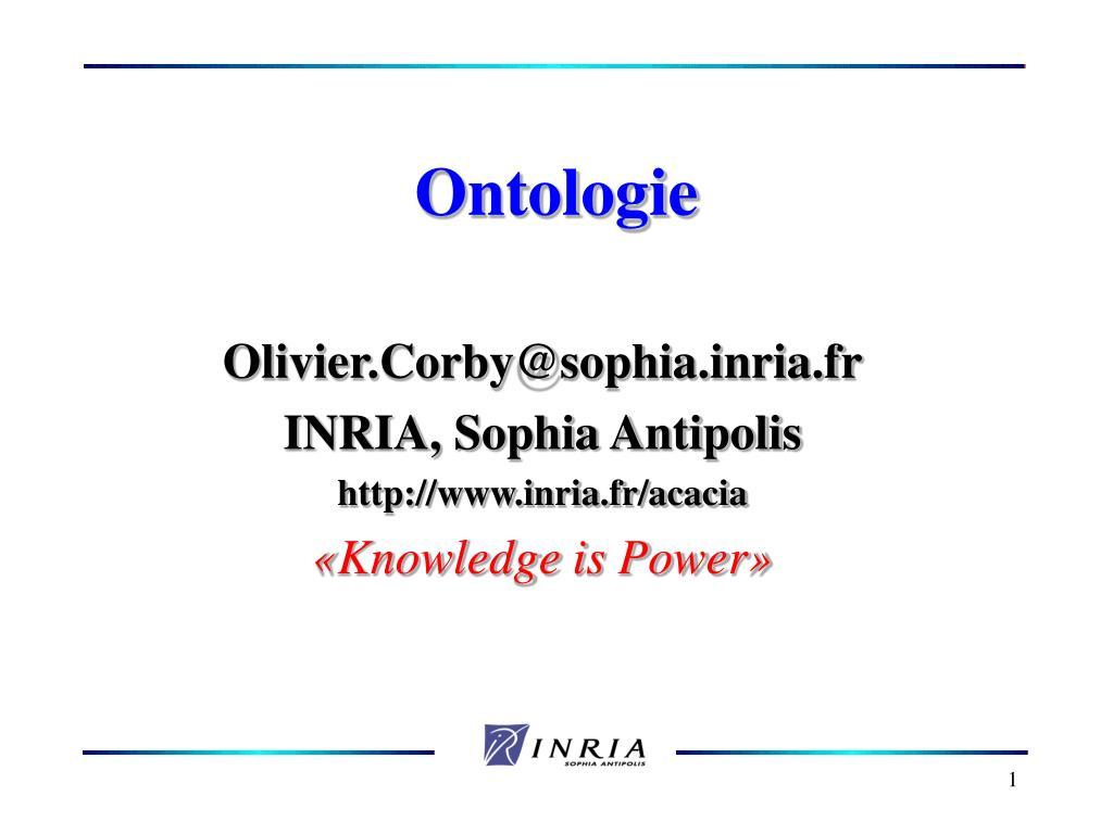 ontologie l.