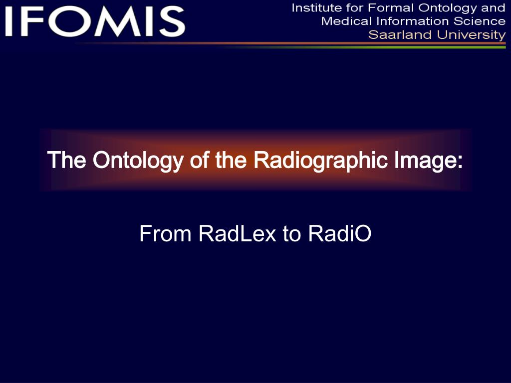 the ontology of the radiographic image l.
