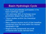 basin hydrologic cycle
