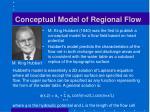 conceptual model of regional flow