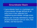 groundwater basin
