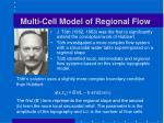 multi cell model of regional flow