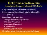 elektromos cardioversio transthoracikus egyen ram dc shock