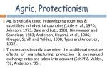 agric protectionism