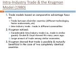 intra industry trade the krugman model 1980