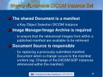sharing of extensive dicom instance set19
