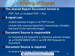 sharing of report