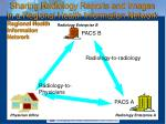 sharing radiology reports and images in a regional health information network