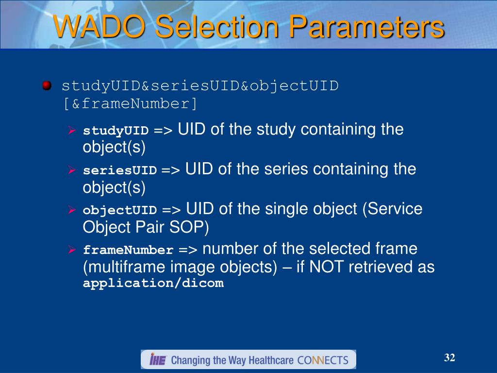 WADO Selection Parameters