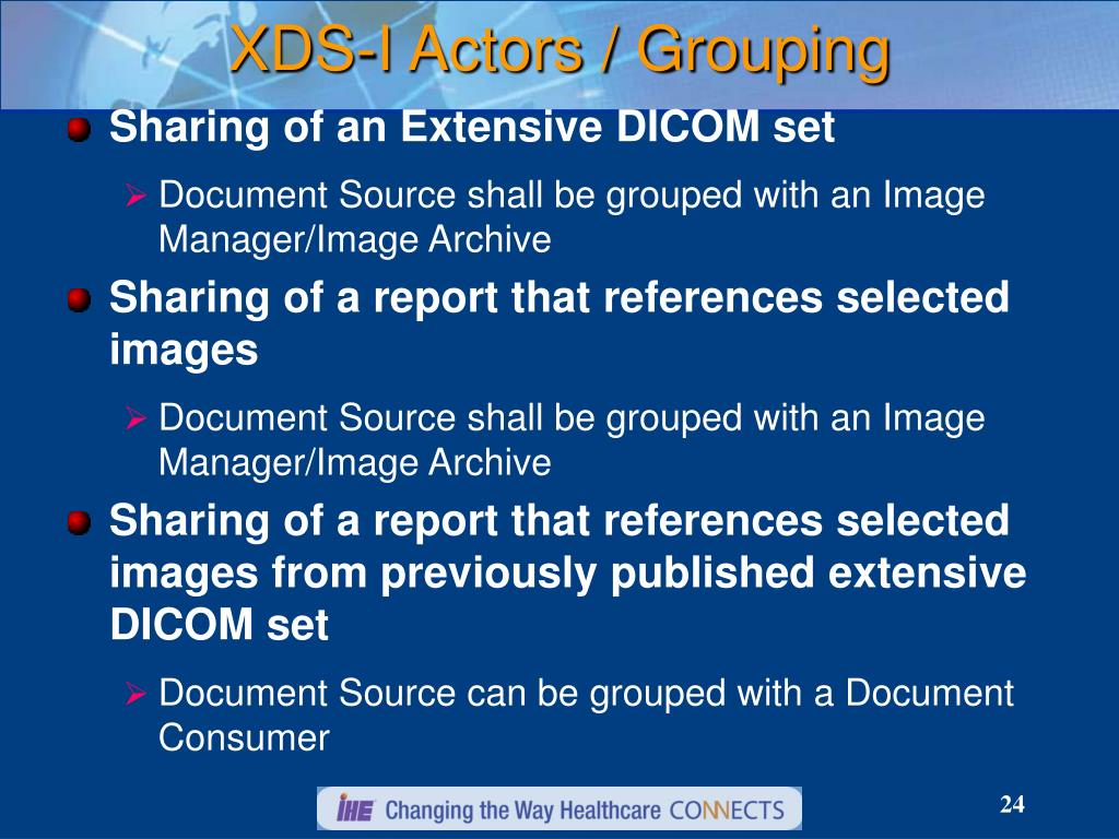 XDS-I Actors / Grouping