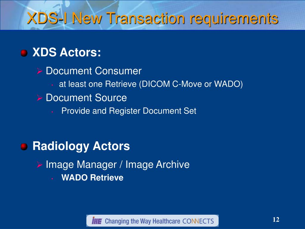 XDS-I New Transaction requirements
