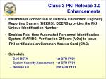 class 3 pki release 3 0 enhancements