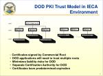 dod pki trust model in ieca environment