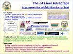 the i assure advantage http www disa mil d4 diioss iachar html