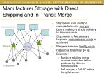 manufacturer storage with direct shipping and in transit merge