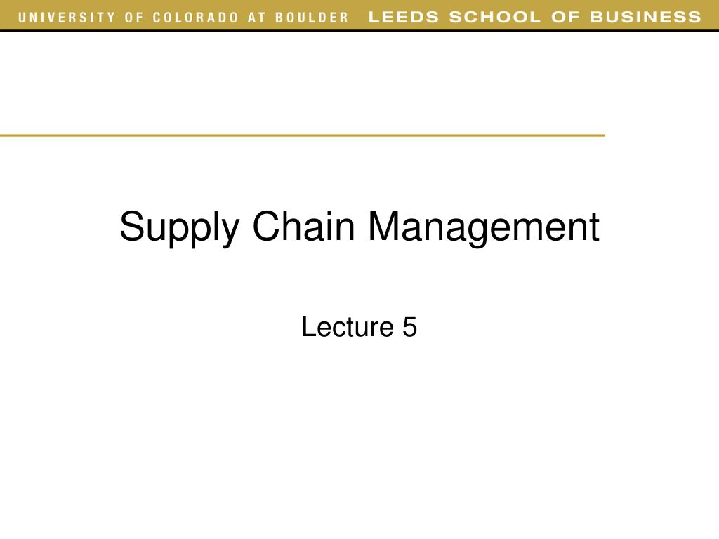 supply chain management l.