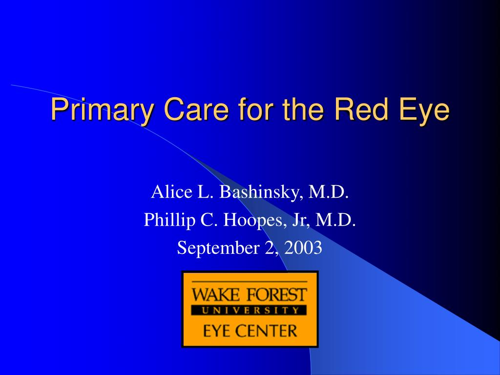 primary care for the red eye l.