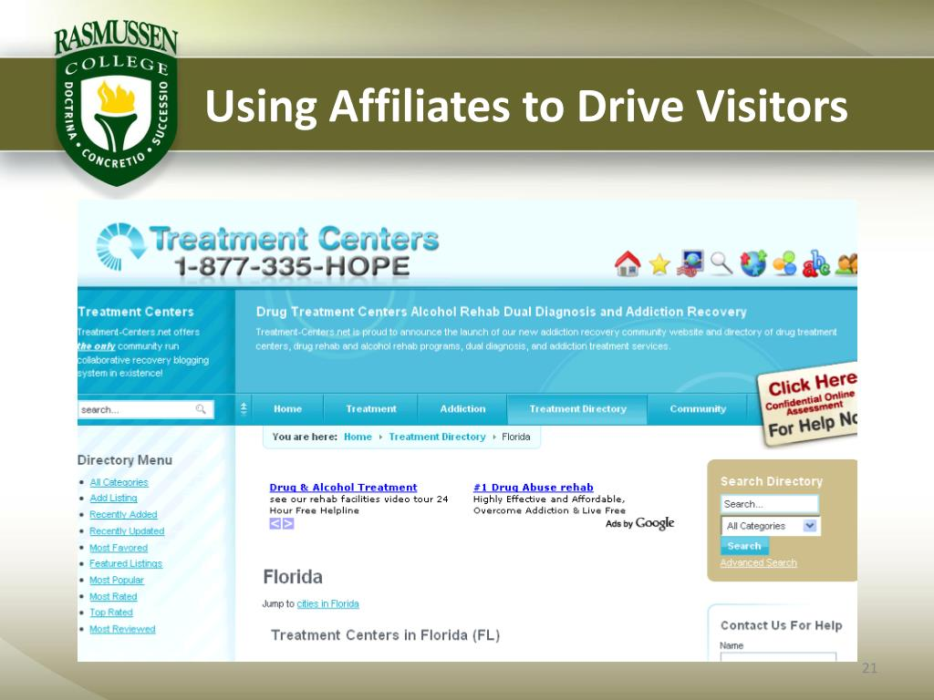 Using Affiliates to Drive Visitors